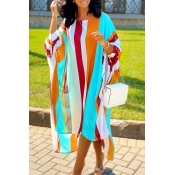 Lovely Casual Striped Asymmetrical Multicolor Ankl
