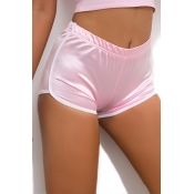 Lovely Casual Patchwork Pink Shorts