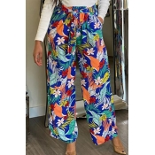 Lovely Bohemian Print Multicolor One-piece Pants