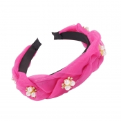Lovely Sweet Pearl Rose Red Headband