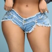 Lovely Sexy Asymmetrical Blue Shorts