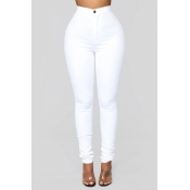 Lovely Trendy Skinny White Pants