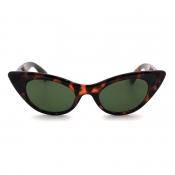 Lovely Stylish Print Brown Sunglasses