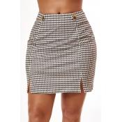 Lovely Trendy Print White Skirt