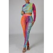 Lovely Leisure Print Multicolor Two-piece Pants Se