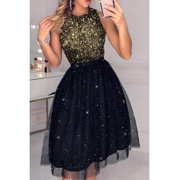 Lovely Sweet Sleeveless Black Knee Length Evening Dress