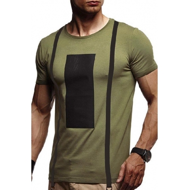 Lovely Leisure Print Army Green T-shirt