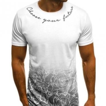 Lovely Leisure Basic Print White T-shirt