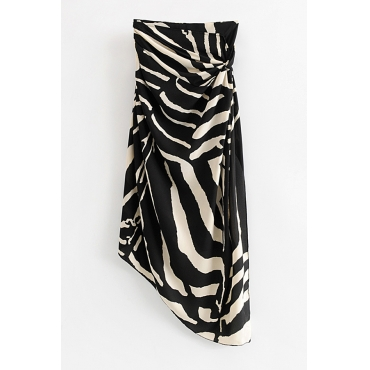 Lovely Trendy Zebra Stripe Skirt