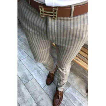 Lovely Trendy Striped Taupe Pants