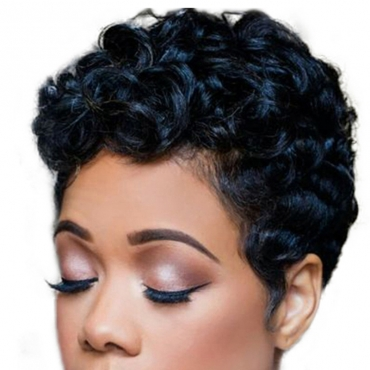 Lovely Chic Short Black Wigs