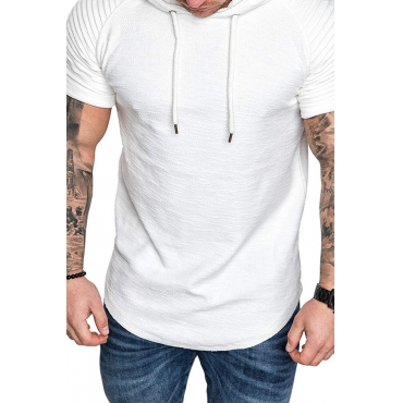 Lovely Casual Hooded Collar White T-shirt