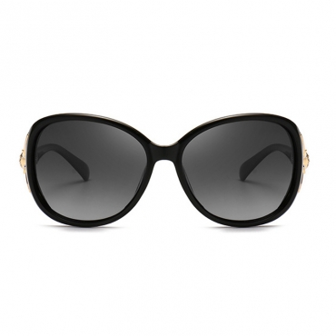 Lovely Trendy Gradient Lens Black Sunglasses