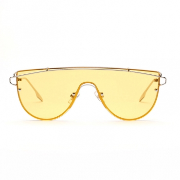 Lovely Chic Yellow One Piece Sunglasses