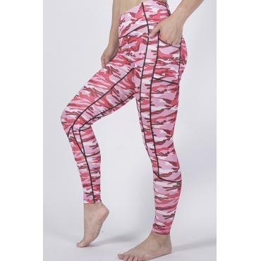 Lovely Leisure Print Pink Leggings