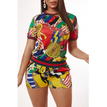 Lovely Leisure Print Multicolor Loungewear