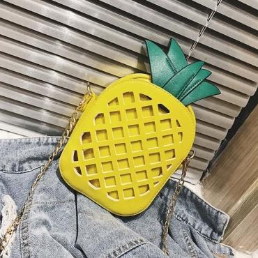 Lovely Sweet Pineapple Yellow Crossbody Bag