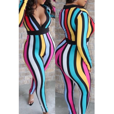 Lovely Stylish Striped Multicolor One-piece Jumpsuit