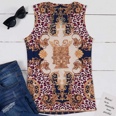 Lovely Leisure Print Multicolor Camisole