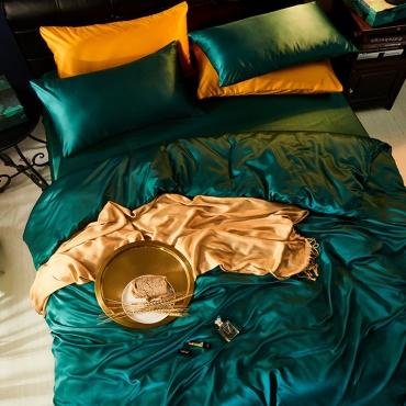 Lovely Leisure Basic Blackish Green Bedding Set