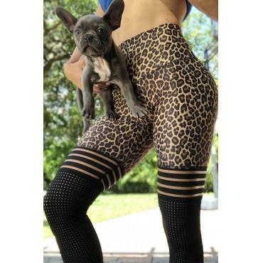 Lovely Sportswear Leopard Print Leggings