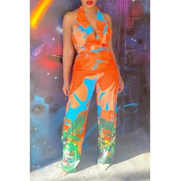 Lovely Bohemian Print Croci One-piece Jumpsuit