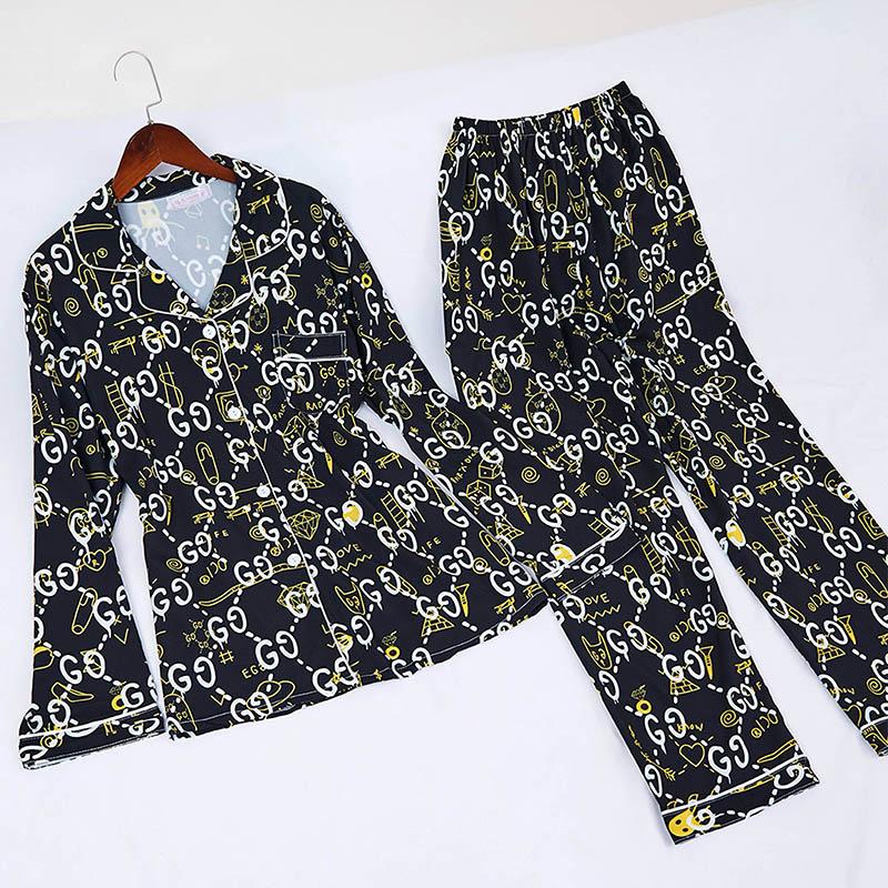Lovely Casual Print Black Sleepwear