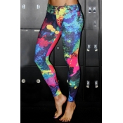 Lovely Sportswear Print Multicolor Leggings