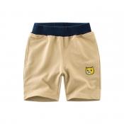 Lovely Trendy Patchwork Khaki Boy Shorts