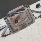 Lovely Stylish Chain Strap Grey Crossbody Bag