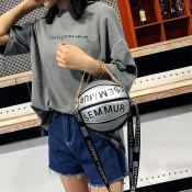 Lovely Trendy Basketball Silver Crossbody Bag
