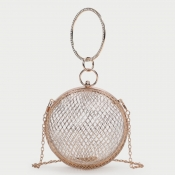 Lovely Chic Hollow-out Gold Crossbody Bag
