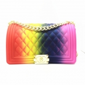 Lovely Trendy Chain Strap Multicolor Crossbody Bag