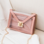 Lovely Chic See-through Pink Crossbody Bag