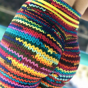 Lovely Sportswear Rainbow Striped Multicolor Pants
