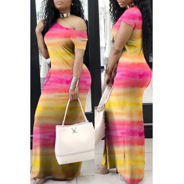 Lovely Bohemian Tie-dye Yellow Maxi Dress