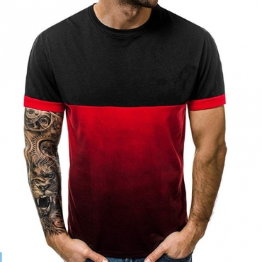 Lovely Trendy Patchwork Black T-shirt