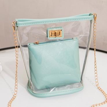 Lovely Chic See-through Blue Messenger Bag