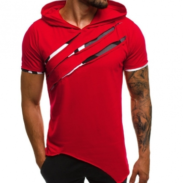 Lovely Leisure Patchwork Red T-shirt