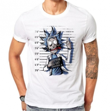 Lovely Leisure Cartoon Print White T-shirt