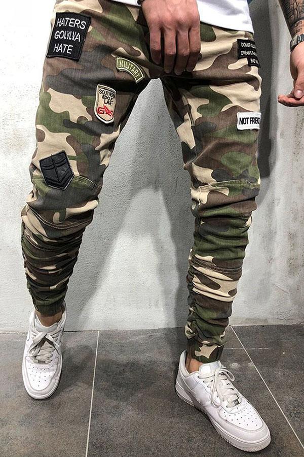 lovelywholesale / Men Lovely Leisure Camo Print Jeans
