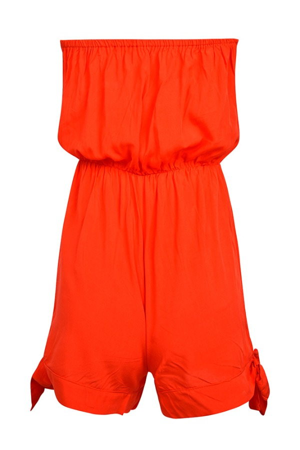 Lovely Stylish Lace-up Red One-piece Romper