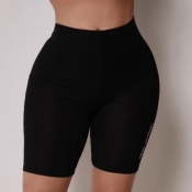 Lovely Sportswear Patchwork Black Pants