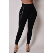 Lovely Casual Skinny Black Jeans
