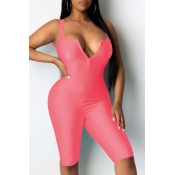 Lovely Sexy Skinny Pink One-piece Romper