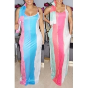 Lovely Trendy Striped Multicolor Maxi Dress