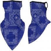 lovely Sportswear Print Navy Blue Face Scarf