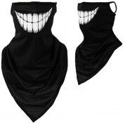 Lovely Sportswear Print White Face Mask