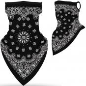 lovely Sportswear Print Black Face Scarf