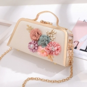 lovely Trendy Print Gold Crossbody Bag